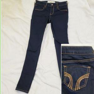 Hollister Dark Wash Skinny Denim Jeans Jeggings 3R